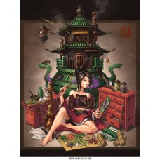 Crystal Herbalist Chinese Steampunk Print by James Ng