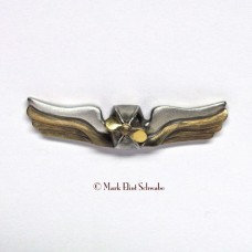 Airship Commander's Wings Insignia Pin - Pewter & Brass